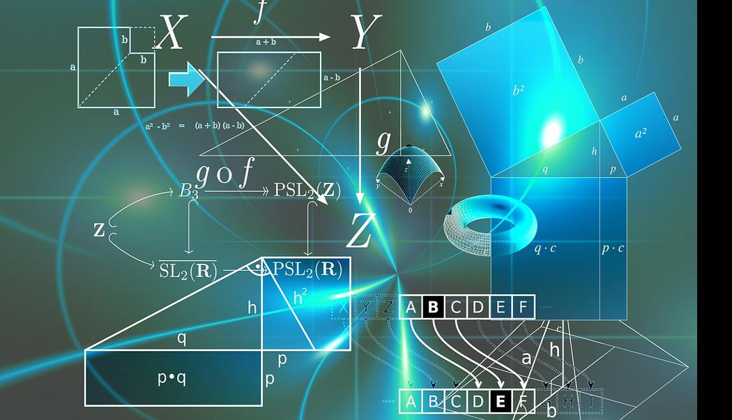 e-Module zur Visualisierung. Abstrakte Illustration von Formeln.