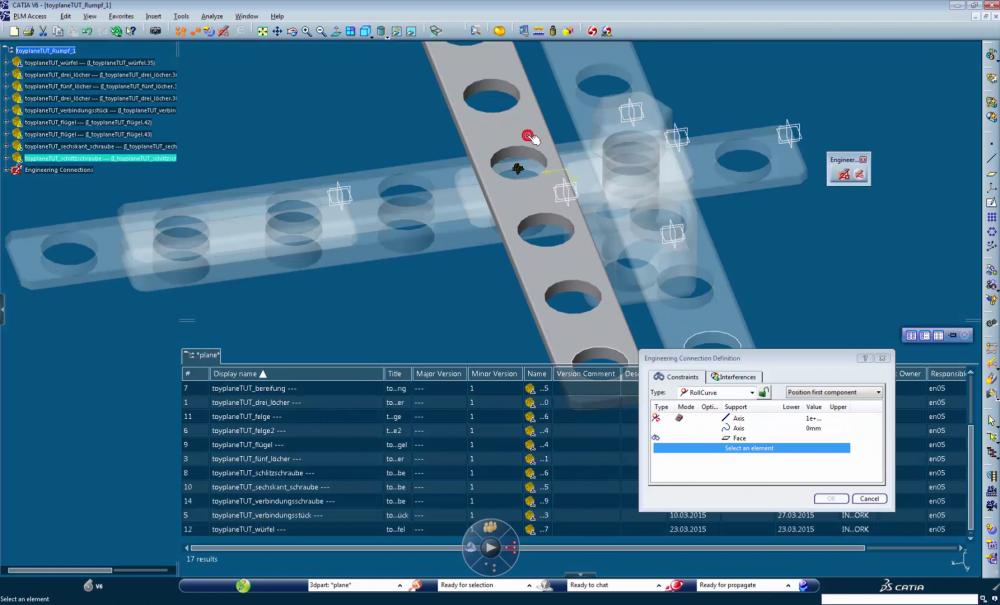 Bild der Benutzeroberfläche in Catia Tutorials zur Softwarenutzung