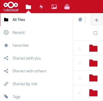 Projektmanagement in der tubCloud. Screenshot1